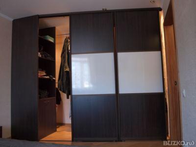 Гардеробный шкаф черно-белый из мдф от компании ангелина куп.
