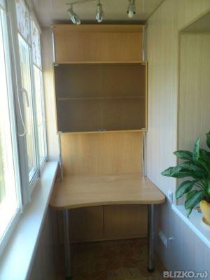 Корпусная мебель для лоджии мдф светлое дерево в омске. цена.