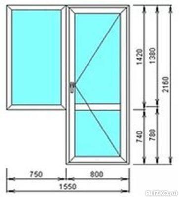 Балконный блок широкий пвх exprof2100х2000 мм35 от компани.