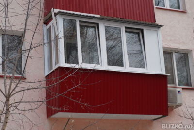 Остекленение балкона алюминиевый профиль от компании окна са.