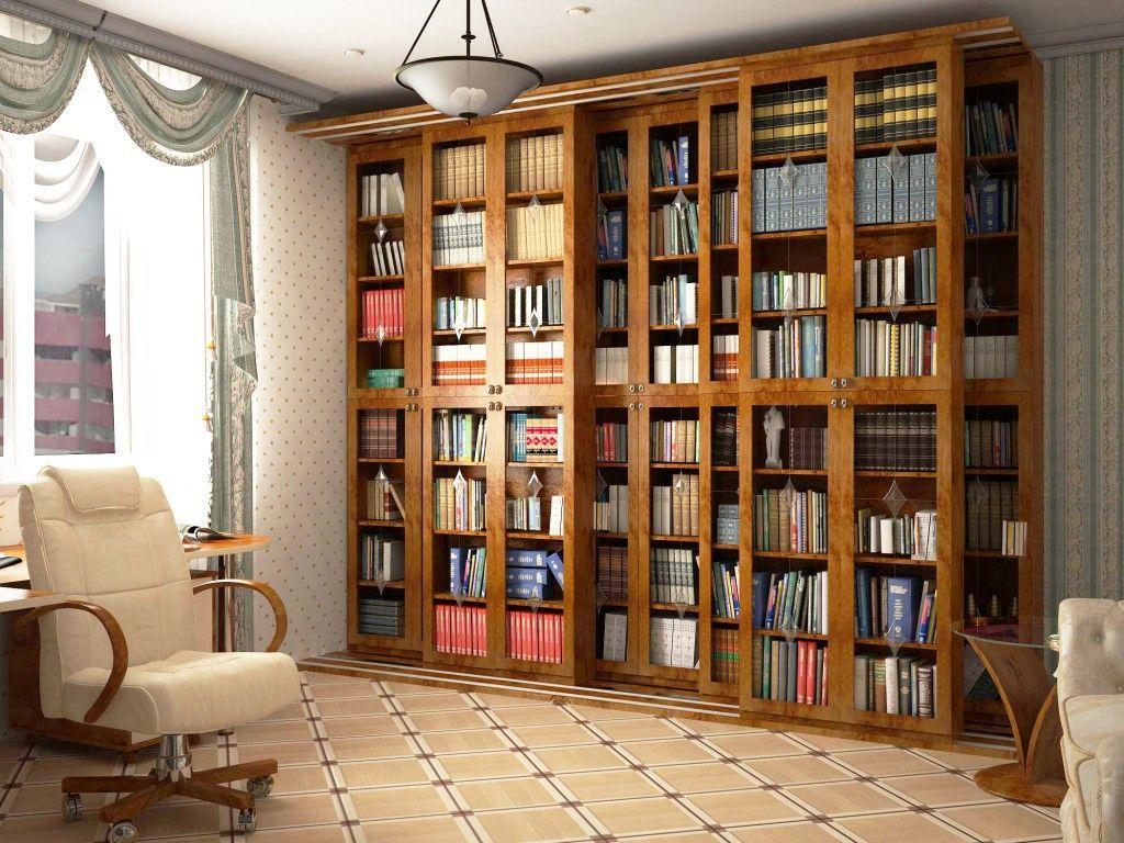 Стеллажи и библиотеки на заказ от компании мебель на заказ к.