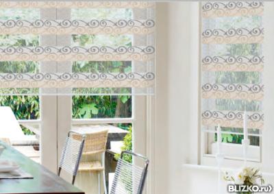 рулонные фото шторы на пластиковые окна фото