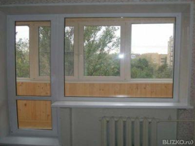 """Балконный блок (окно) в панельный дом """"под ключ"""" veka 3-трех."""