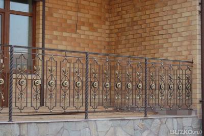 Перила кованые для террасы к670м от компании металлоцех для .