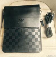 3e283682528e Деловая мужская сумка планшет L для планшета, документов Brand (Черный, шаш