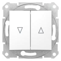 Выключатель для жалюзи SEDNA электрическая блокировка белый SDN1300121